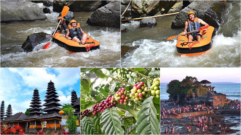 Ayung river tubing + Tanah lot tour
