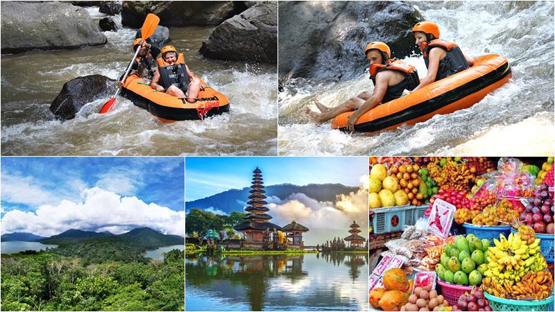 Ayung River Tubing + Lake Temple Tour 1