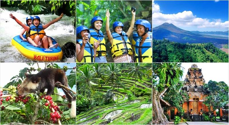Pakerisan River Tubing + Volcano + Ubud Tour 10