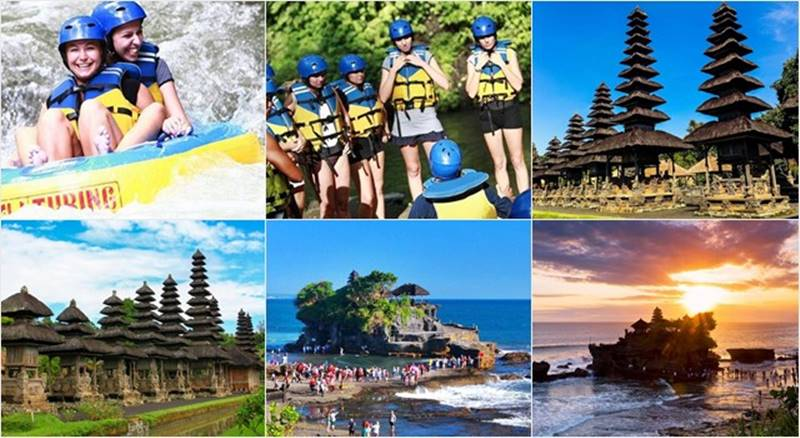 Pakerisan River Tubing + Tanah Lot Temple Tour 1