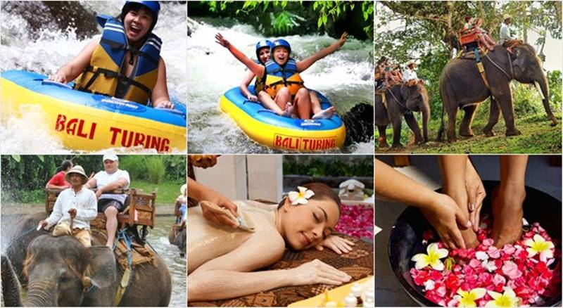 Pakerisan River Tubing + Elephant Ride + Spa Tour 1
