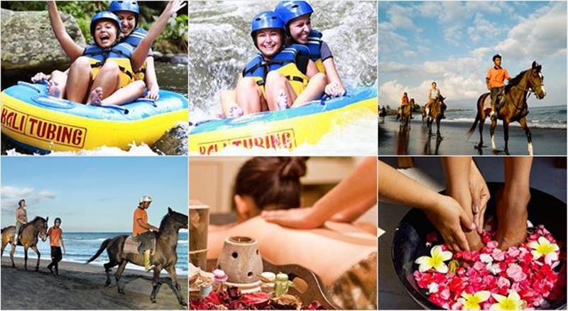 Pakerisan River Tubing + Horse Riding + Spa Tour 6