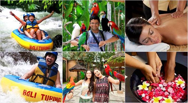 Pakerisan River Tubing + Bali Bird Park + Spa 1