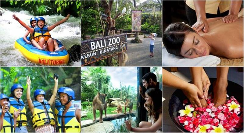 Pakerisan River Tubing + Bali Zoo + Spa 1
