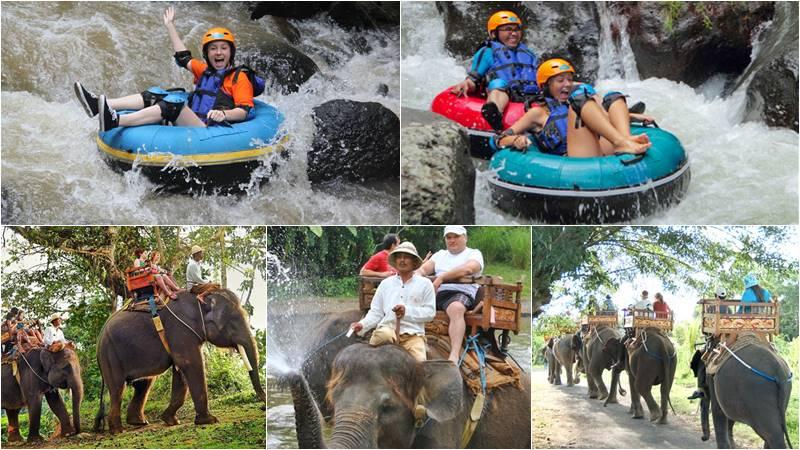 Penet river tubing + Elephant ride
